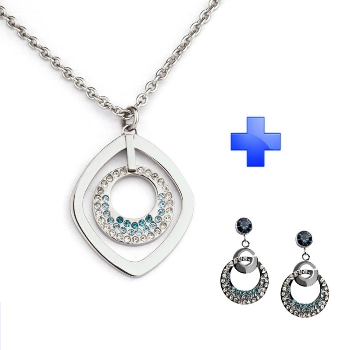 Xmas Gift Set – Elegance Hoop 精鋼 吊墜 耳環