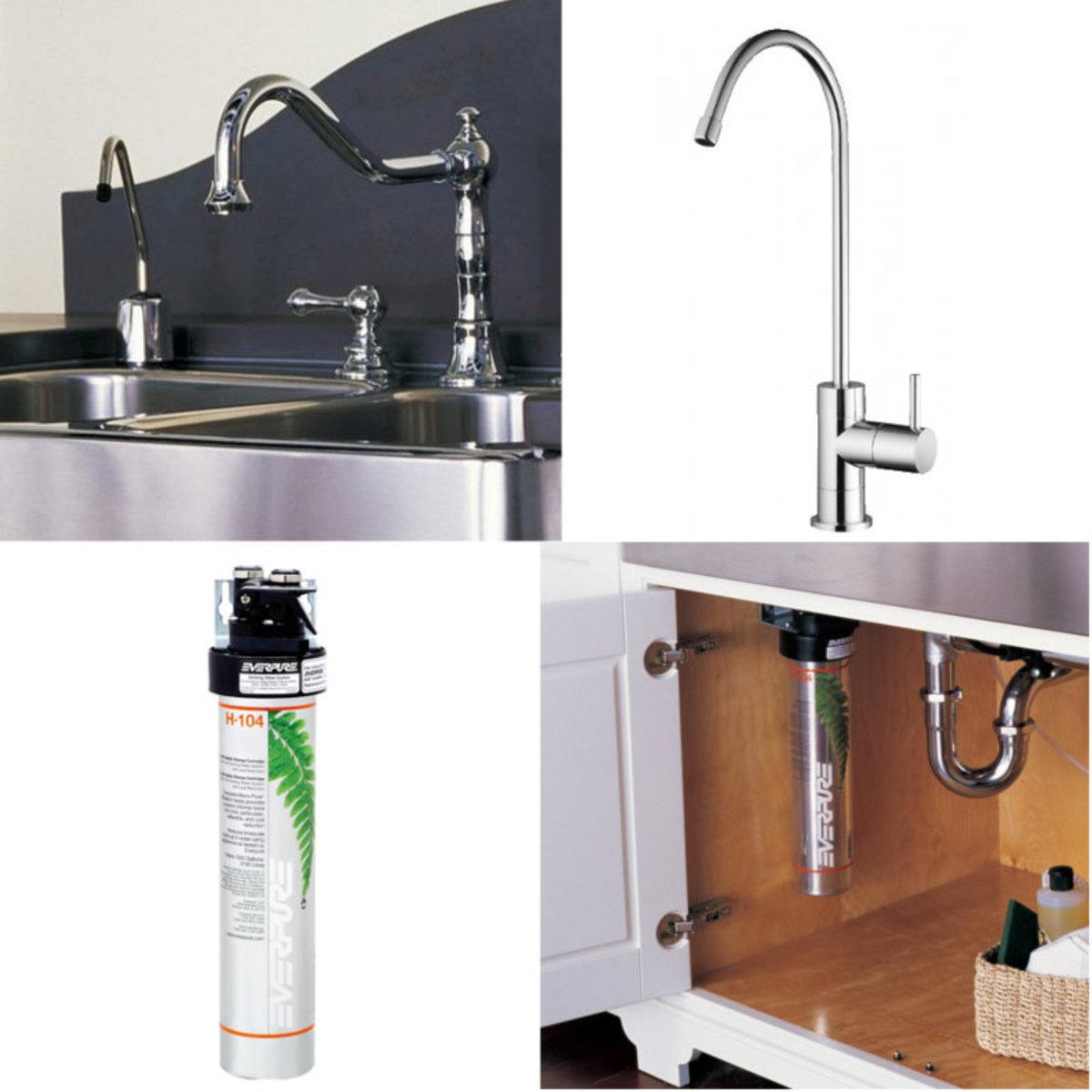美國專業Everpure檯底式去鉛濾水器 連安裝及無鉛水嚨頭