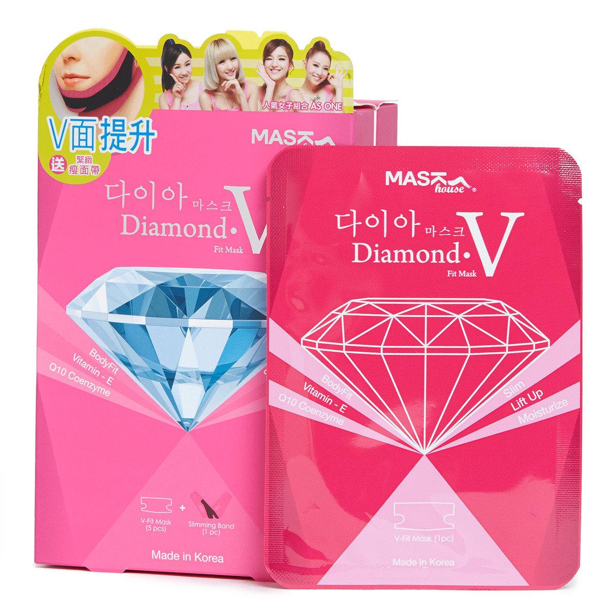 鑚石級V型纖面膜套裝 (V-FIT 面膜+ 瘦面帶)