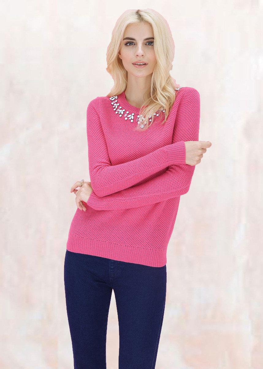 深粉紅色毛衣