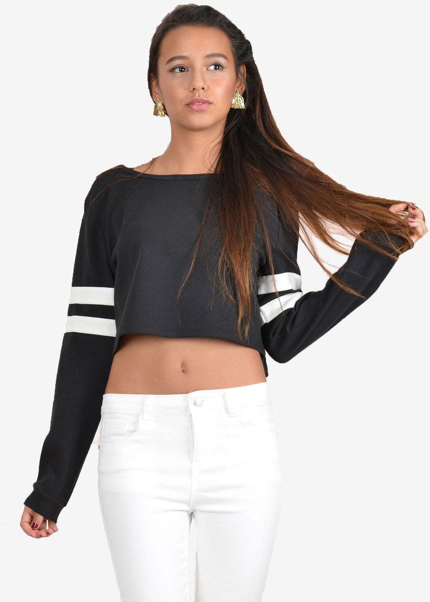 黑色有雙間長袖衫