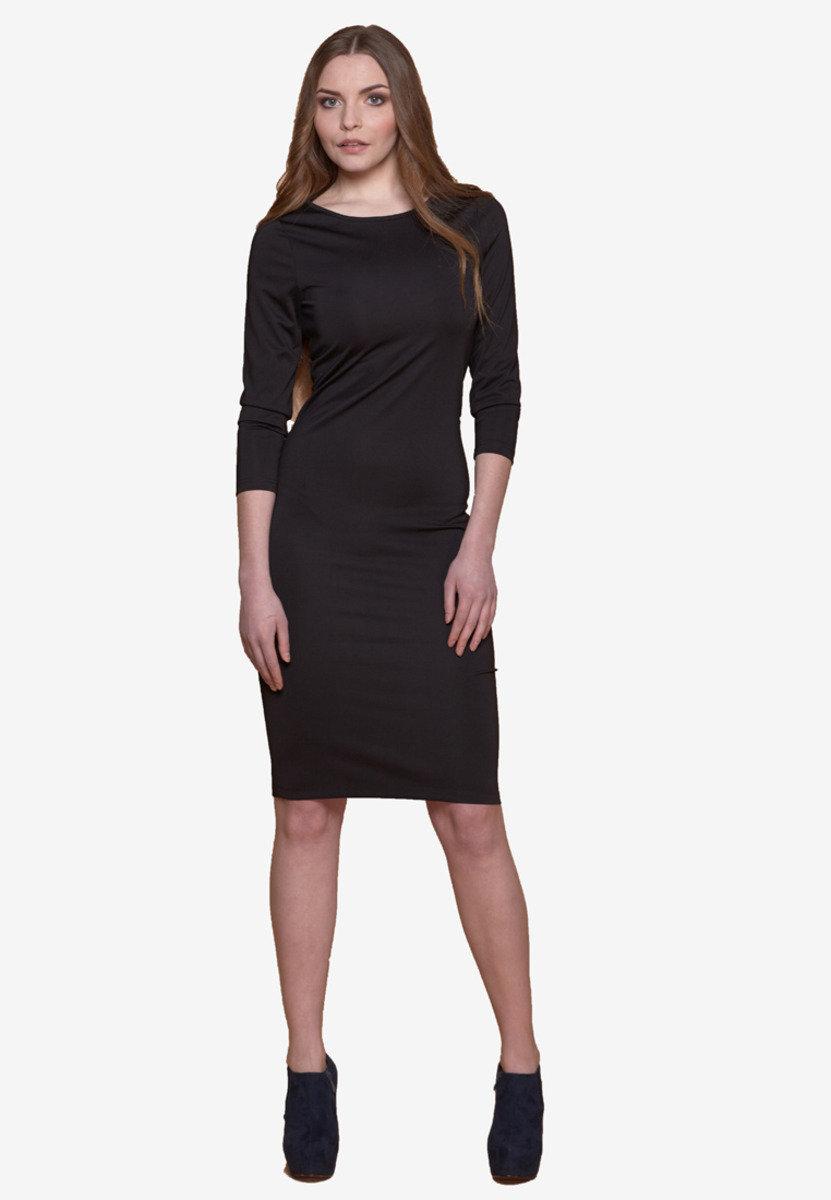 黑色及膝連身裙