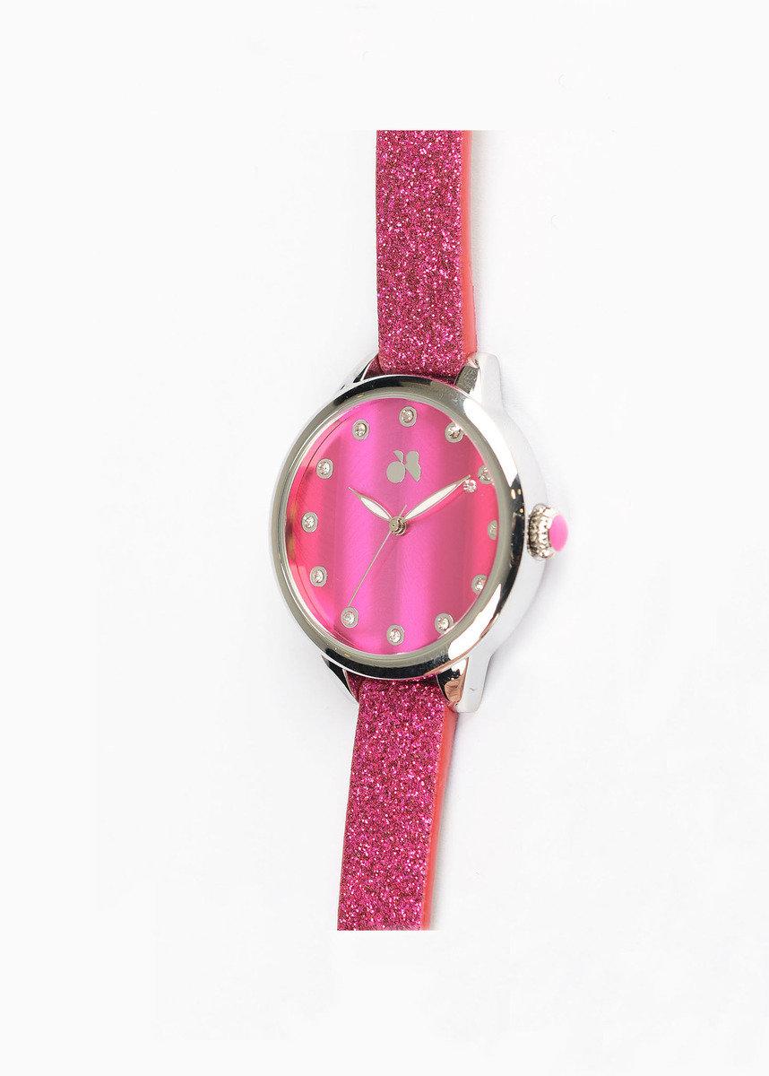 閃爍圓框手錶