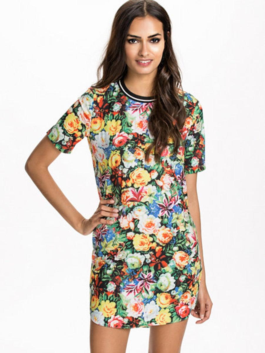 羅紋印花連身裙