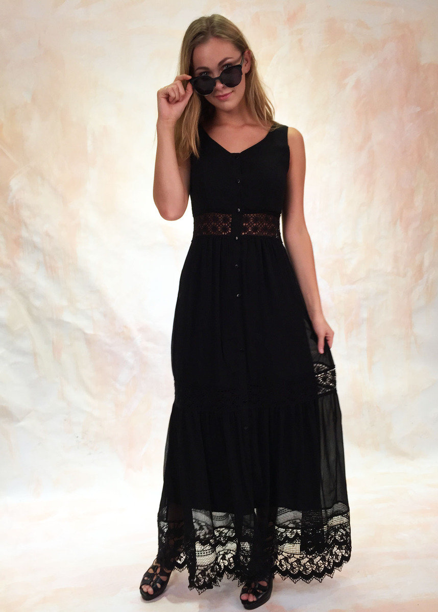 Nerita喱士邊飾連身裙