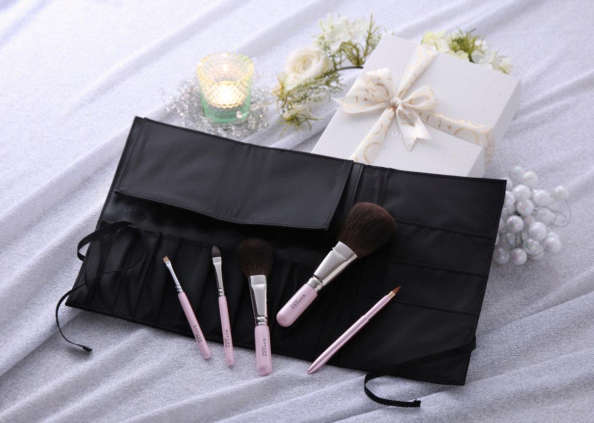 PLATINUM珍珠粉紅松鼠毛化妝掃套裝