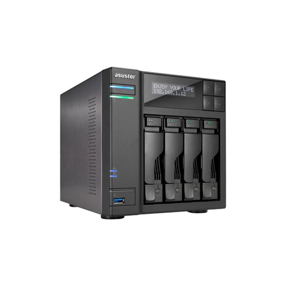 4-Bay 高效能 4K播放雲端網絡儲存分享系統 AS6204T