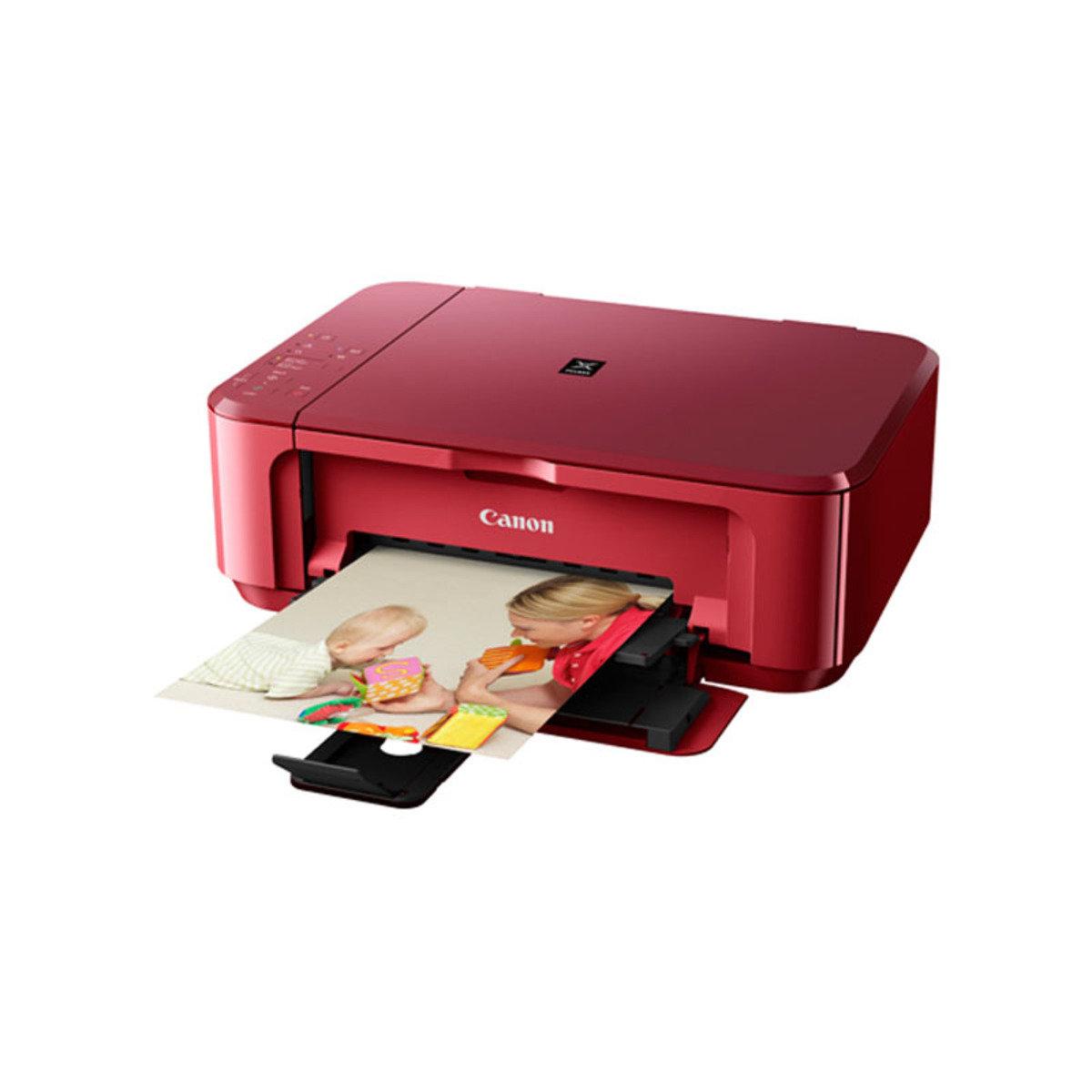 彩色打印 掃瞄 影印 多合一噴墨相片打印機 MG3670 紅色