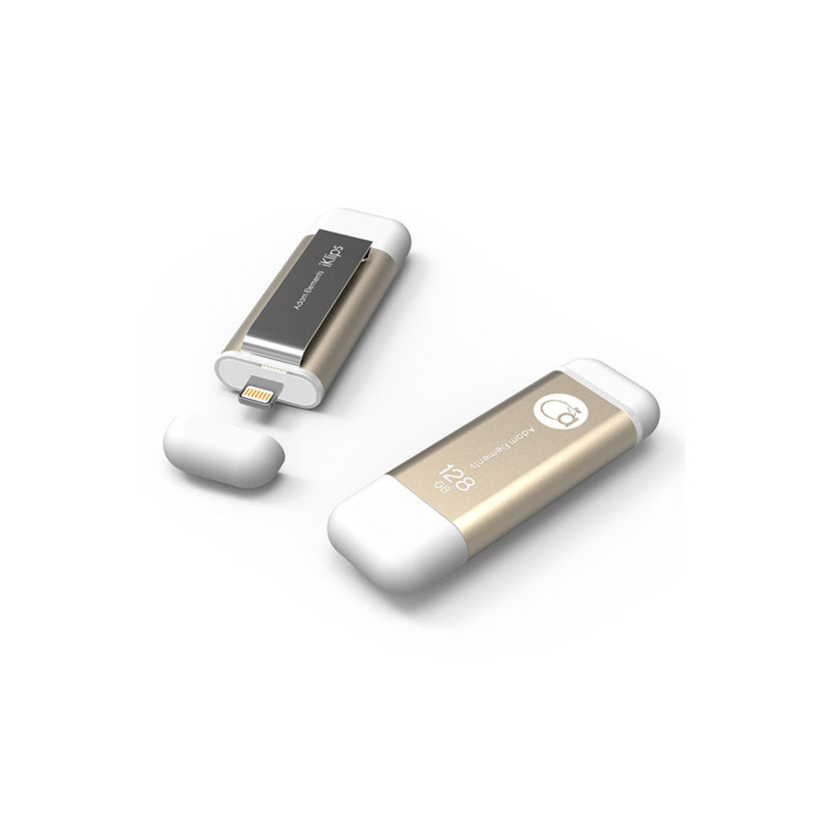 iKlips Lightning/USB 3.0雙介面隨身盤 128GB 金色