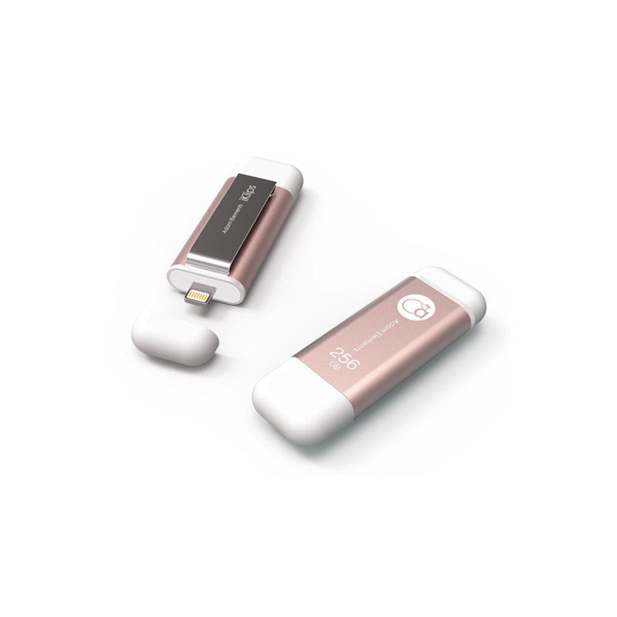 iKlips Lightning/USB 3.0雙介面隨身盤 256GB 玫瑰金