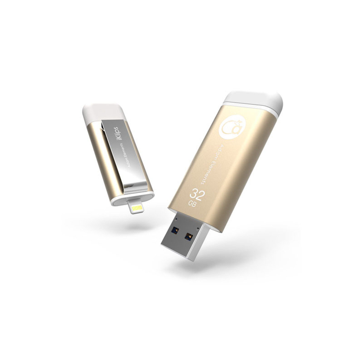 iKlips Lightning/USB 3.0雙介面隨身盤 32GB 金色