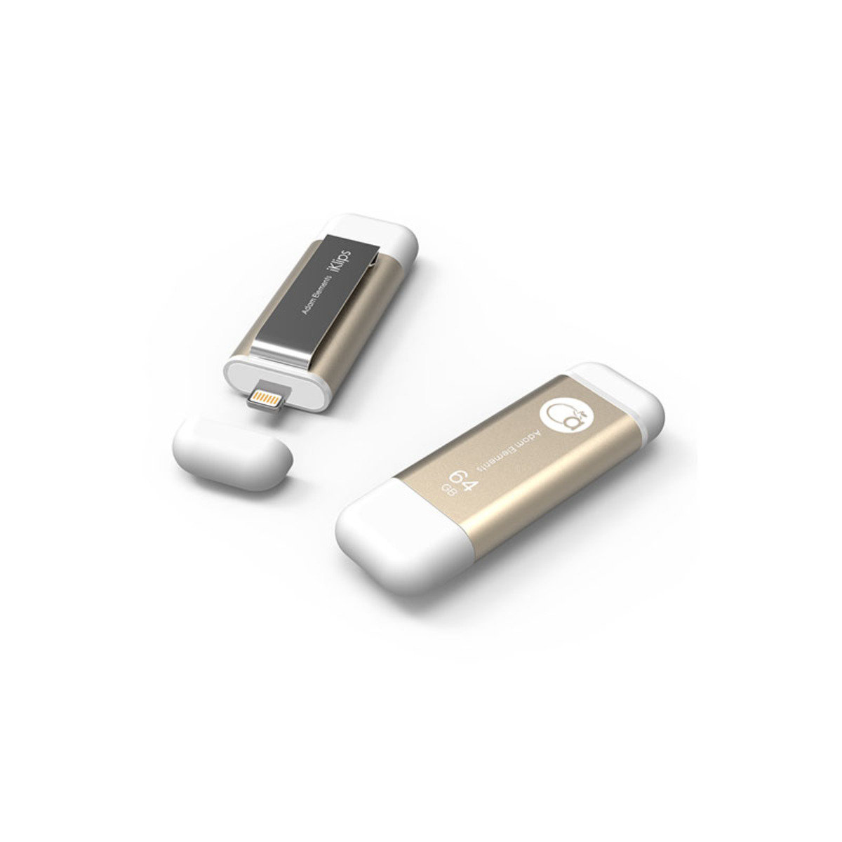 iKlips Lightning/USB 3.0雙介面隨身盤 64GB 金色