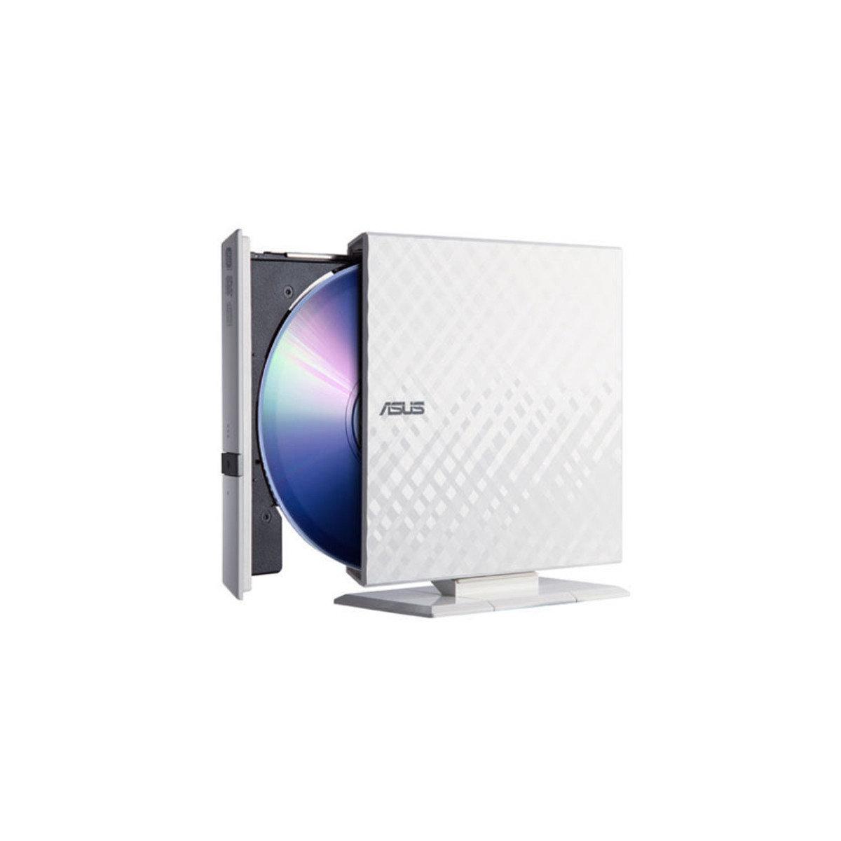 便攜式外置USB2.0 光碟燒錄機 SDRW-08D2S-U 白色
