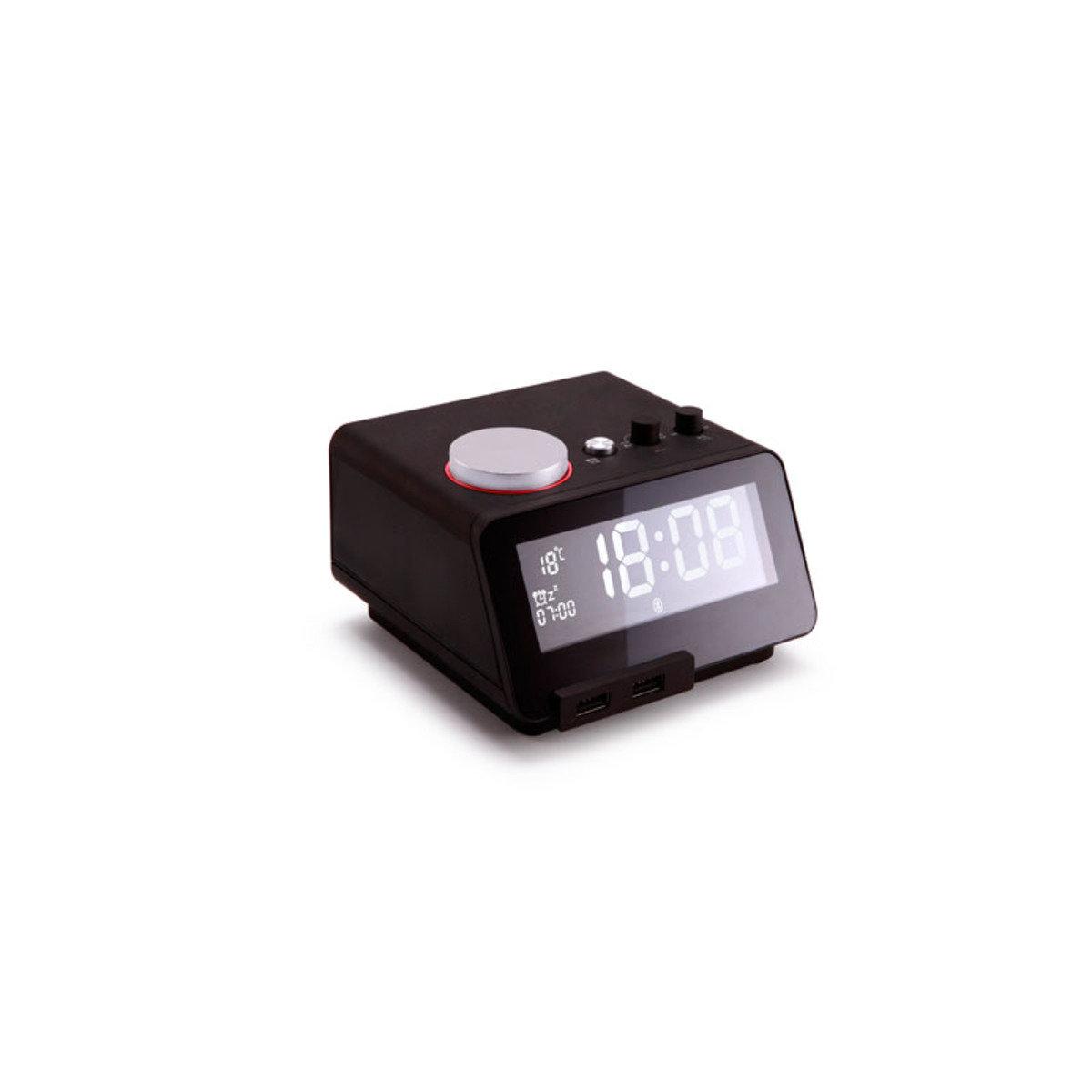 藍芽免提喇叭連充電USB座檯鬧鐘  黑色 MM-C12BK