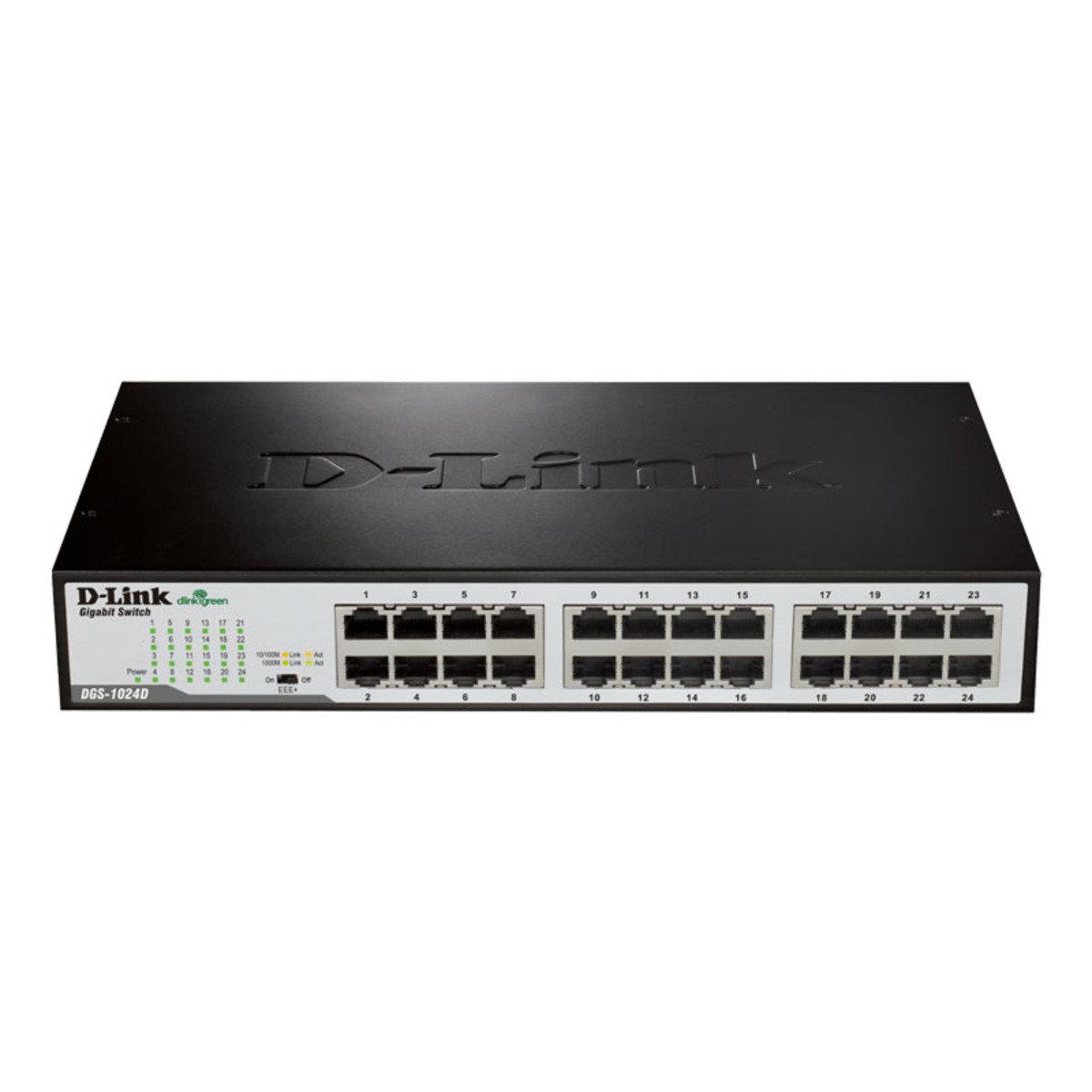 24-Ports Gigabit 網絡分線器 DGS-1024D