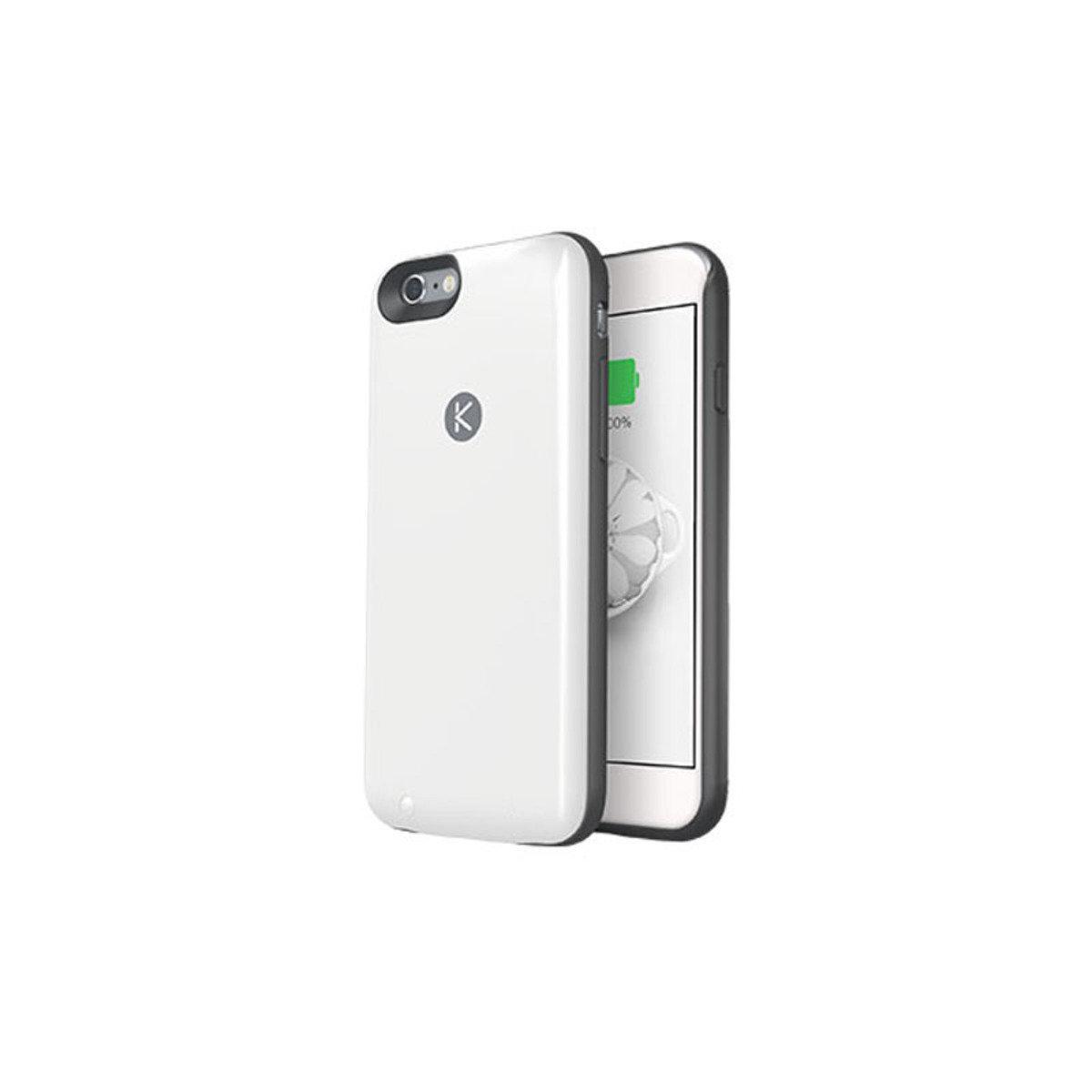 iPhone 6 / 6S 專用機殼內置16GB連2400mAh充電池 黑色+白色
