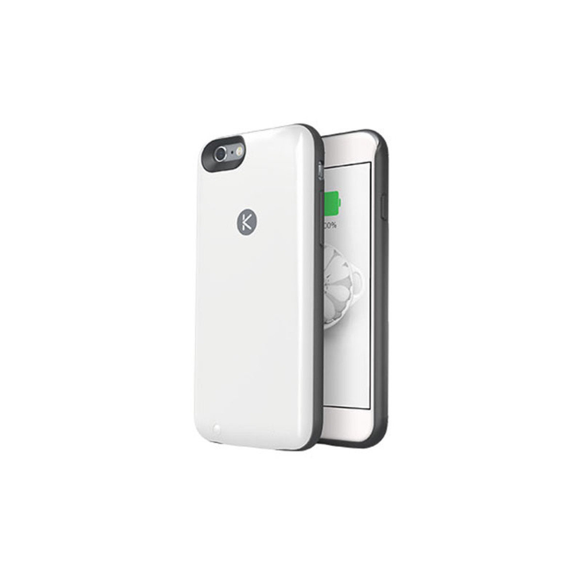 iPhone 6 / 6S 專用機殼內置64GB連2400mAh充電池 黑色+白色