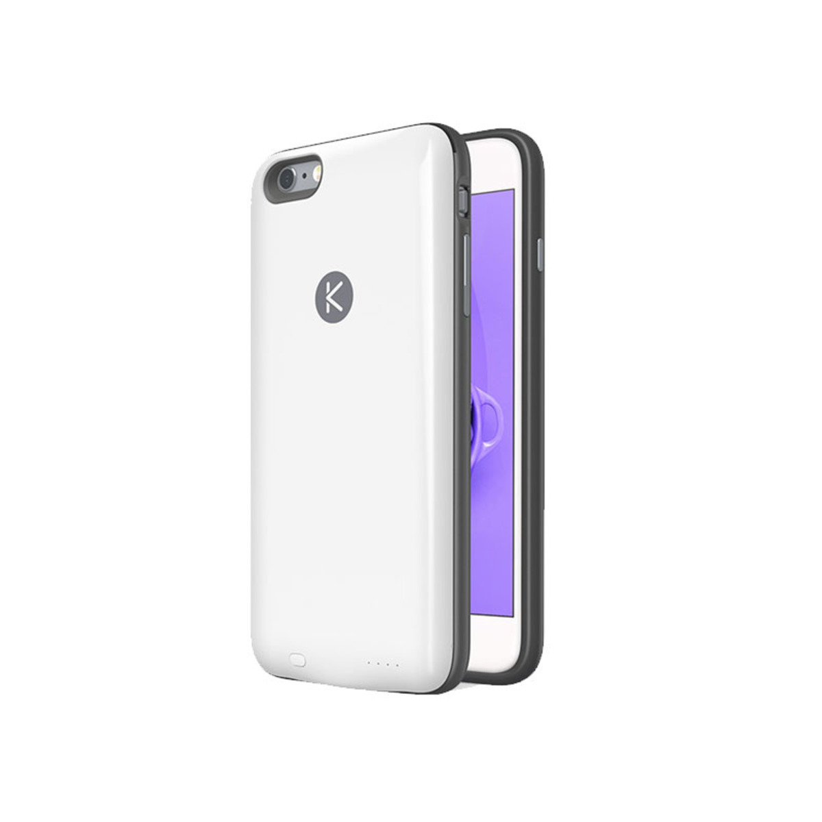 iPhone 6 Plus/ 6S Plus 專用機殼連2400mAh充電池 黑色+白色