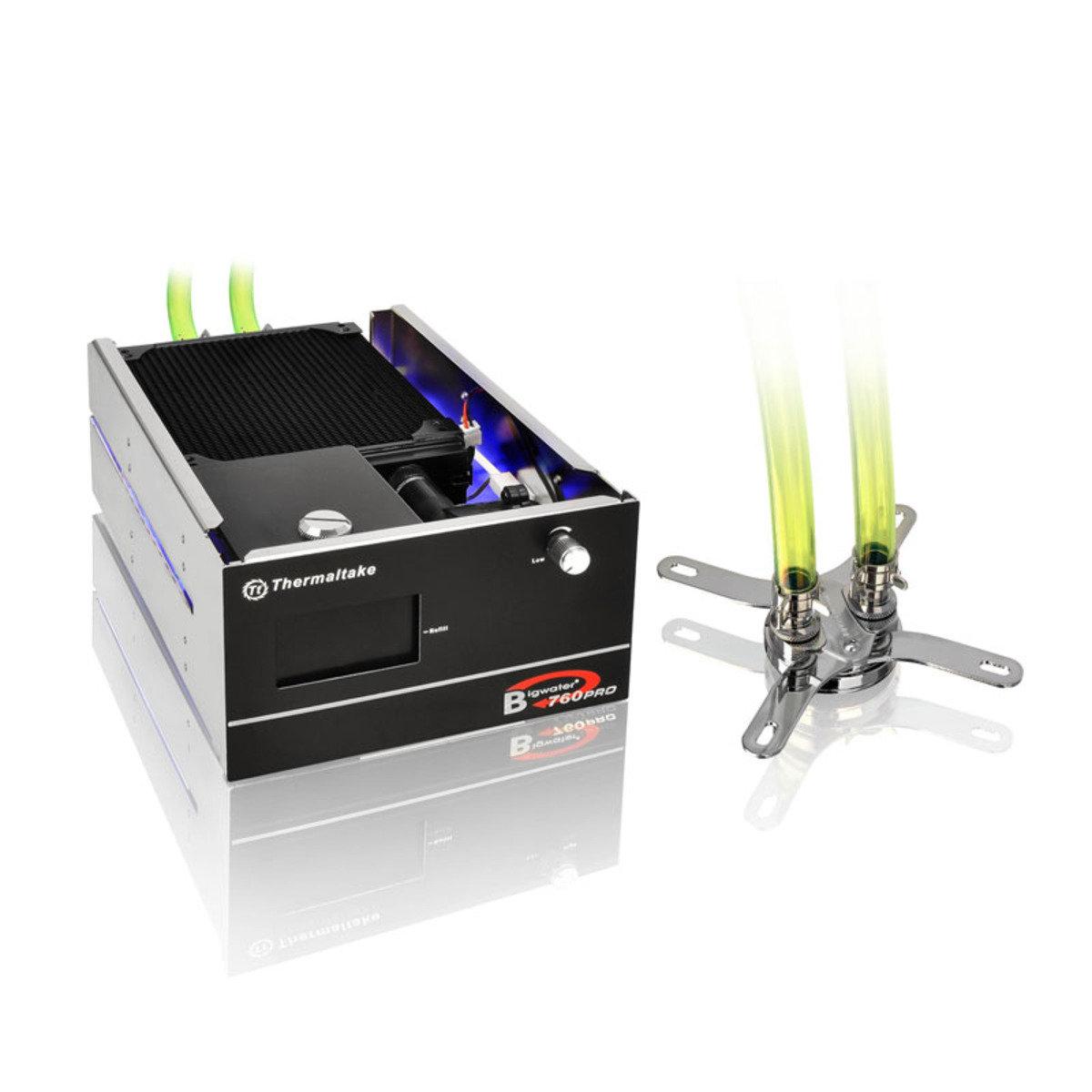 面板雙5.25吋 一體式中央處理器液冷散熱系統 BigWater 760 Pro