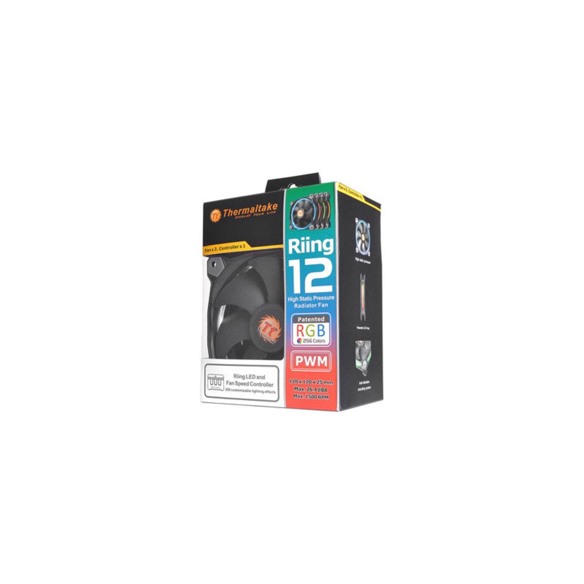 14cm高風壓RGB 256色LED機箱風扇 (三件優惠裝) Riing 14 RGB