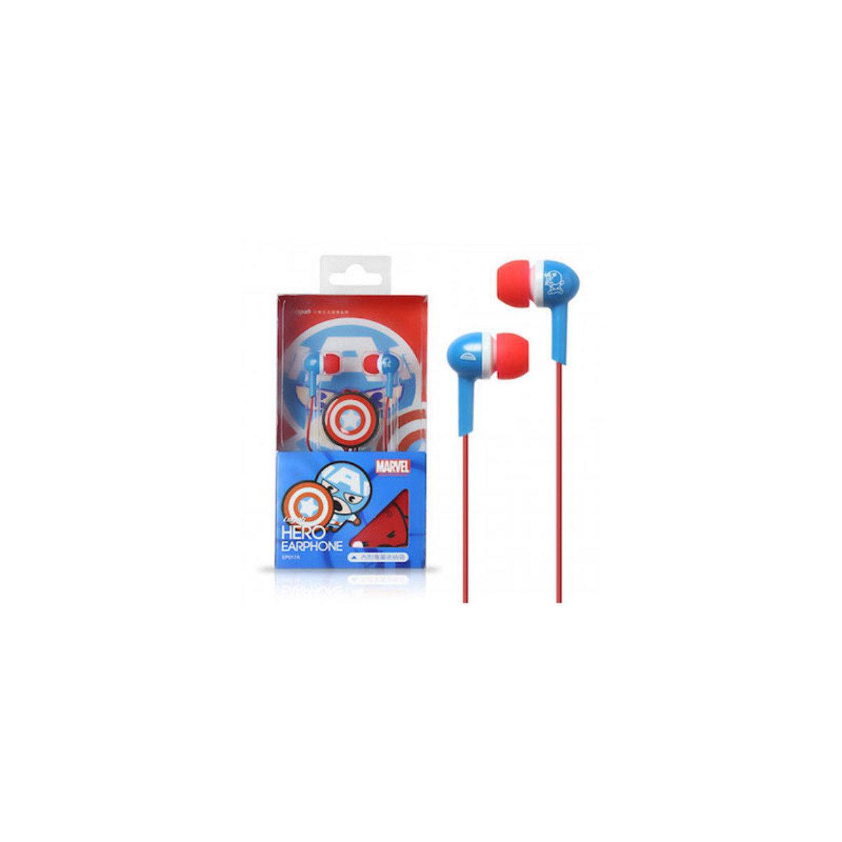 Marvel Kawii系列 Captain America 入耳式耳機連Mic