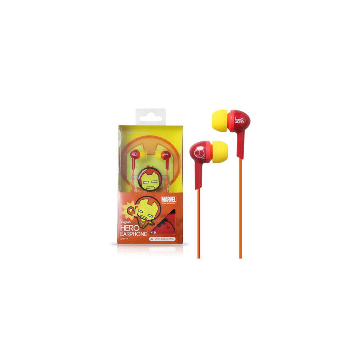 Marvel Kawii系列 Iron Man入耳式耳機連Mic