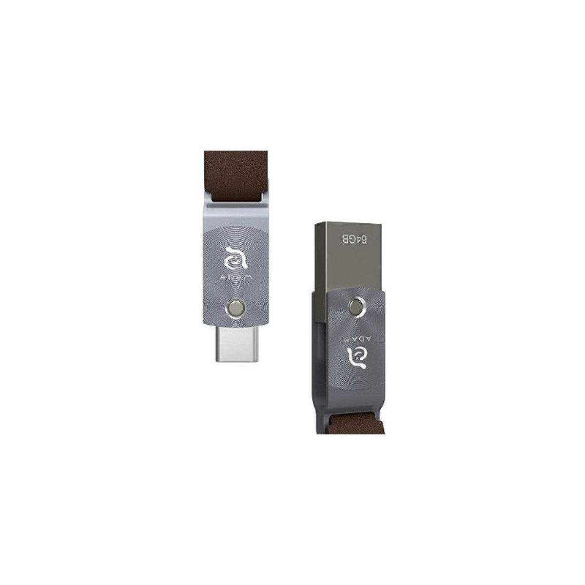 ROMA USB3.1 Type-C & A 64GB 雙頭隨身碟 銀色