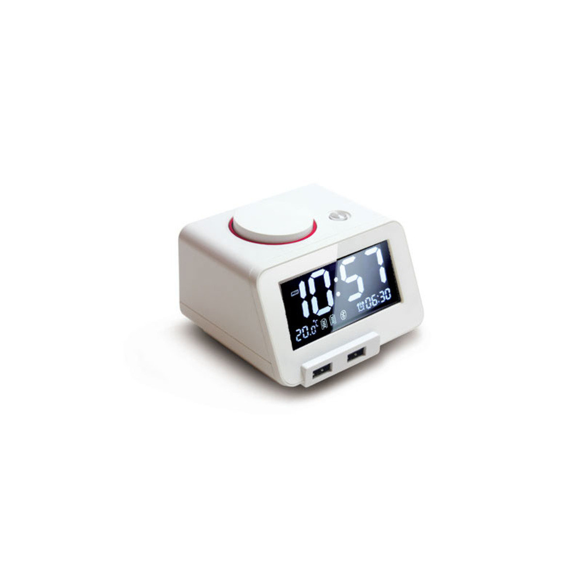 藍芽喇叭連充電USB座檯鬧鐘 白色 MM-C1PWH