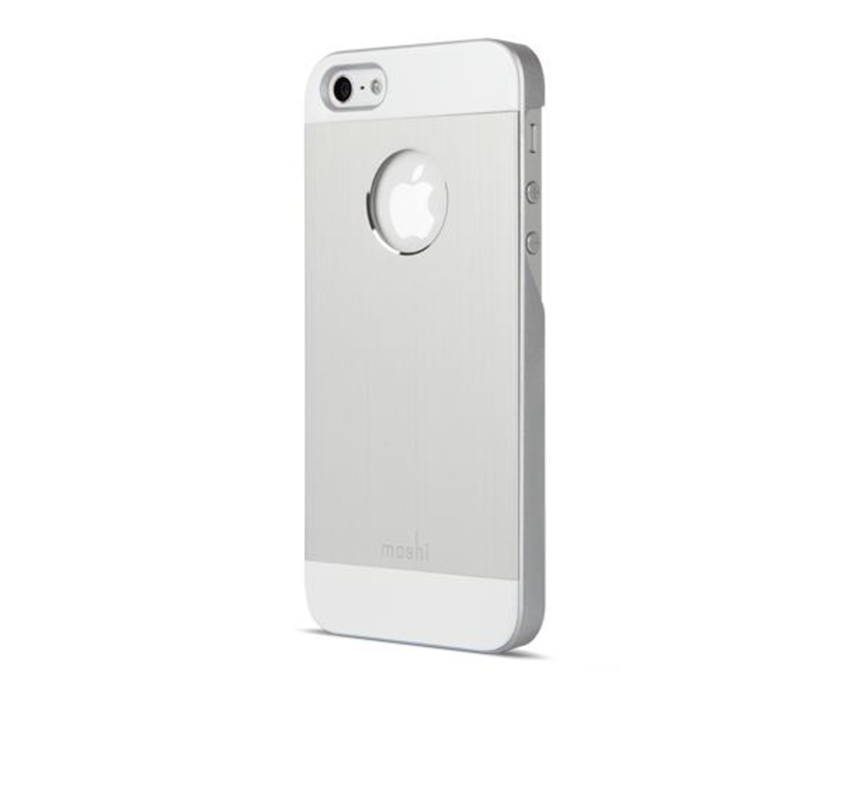 low priced dd0a3 d58f8 Moshi | iGlaze Armour Metal Case for iPhone SE/5s/5 [Silver ...