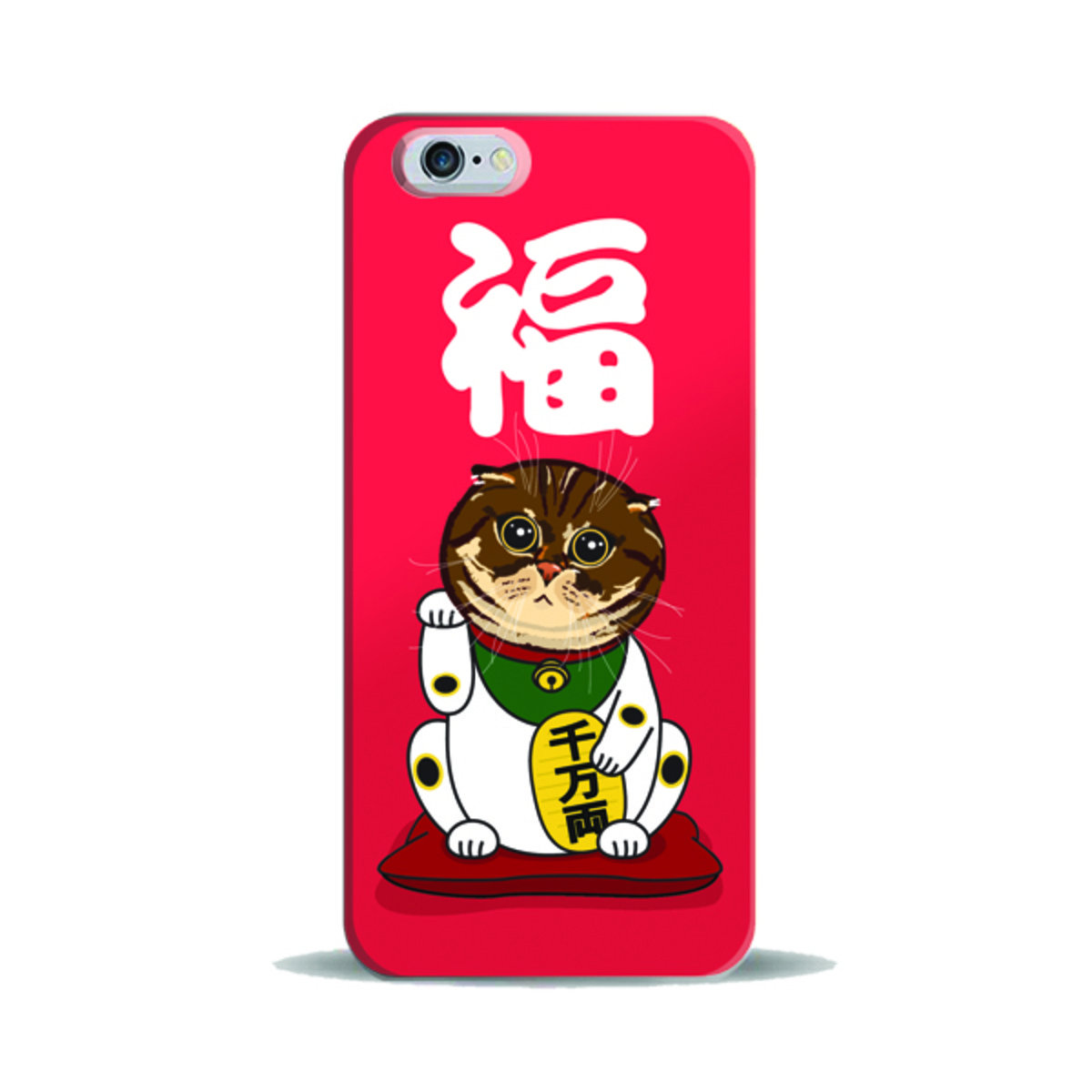 "iPhase - iPhone 6 (4.7"") 手機膠殼電話保護套 4.7寸  (招財版-喵喵) (另有適合iPhone 6 Plus 5.5寸型號)"