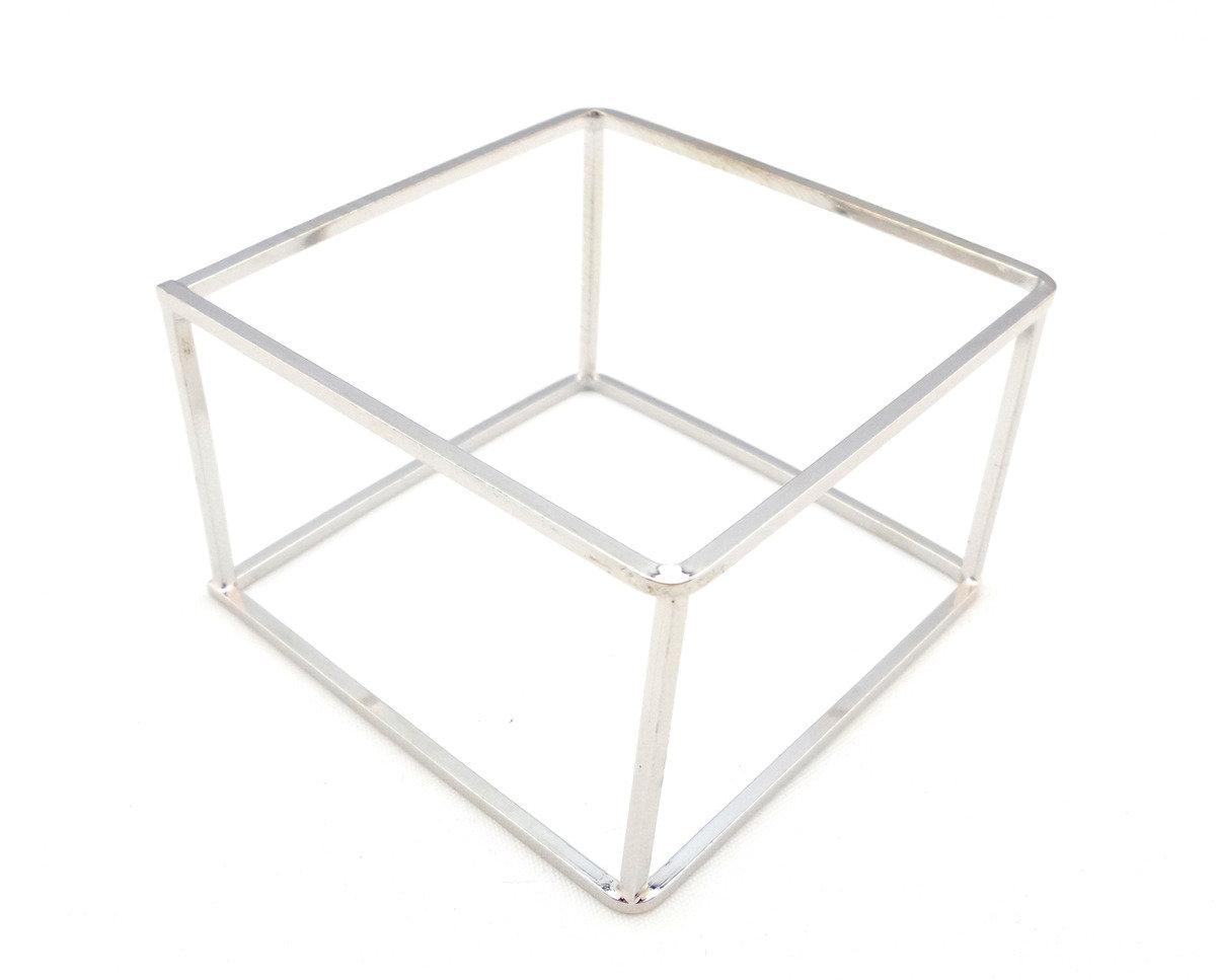 銀色立體方形手鐲