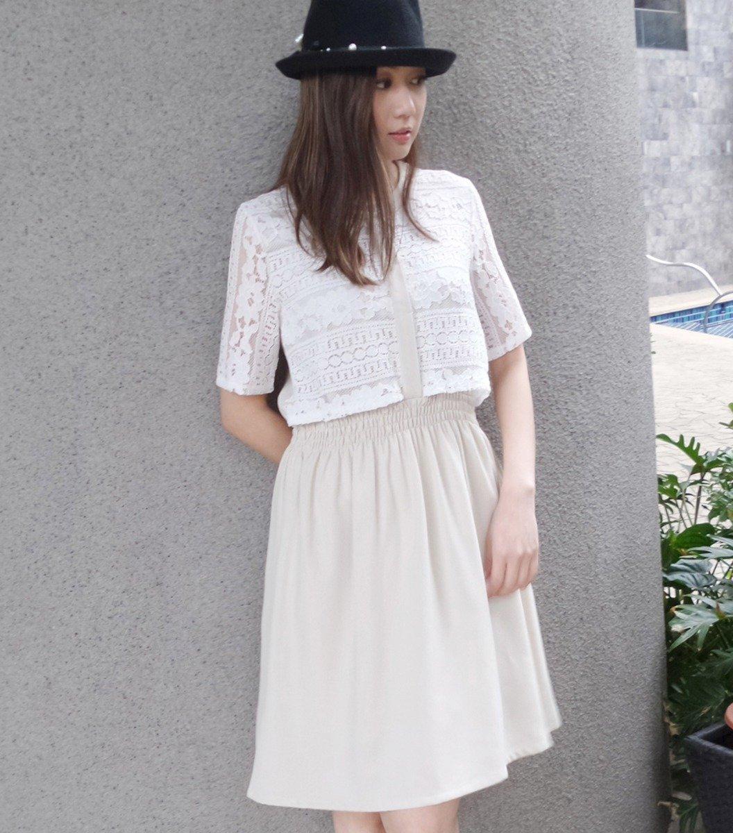 拼日本喱士像根腰連身裙