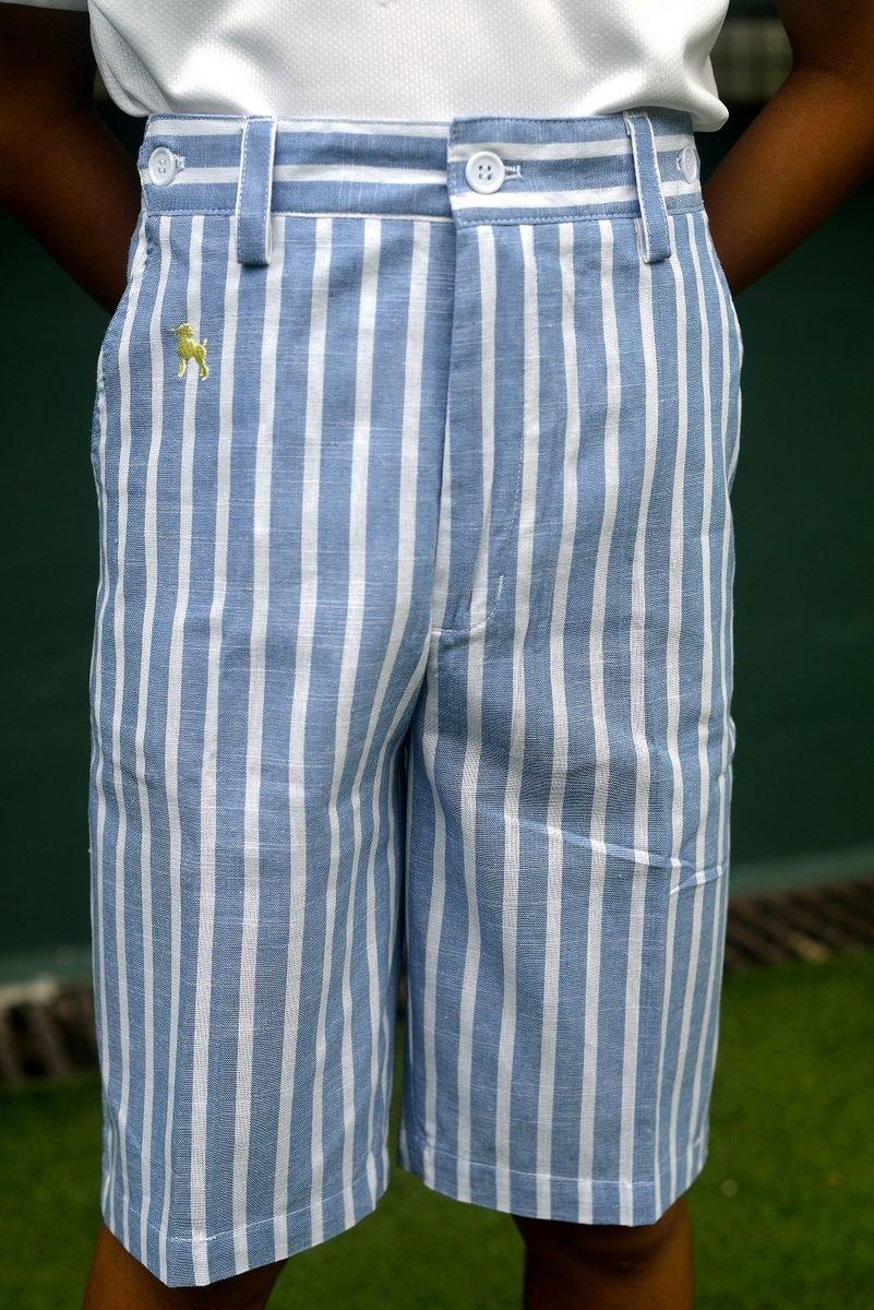 短褲 - 粉藍色