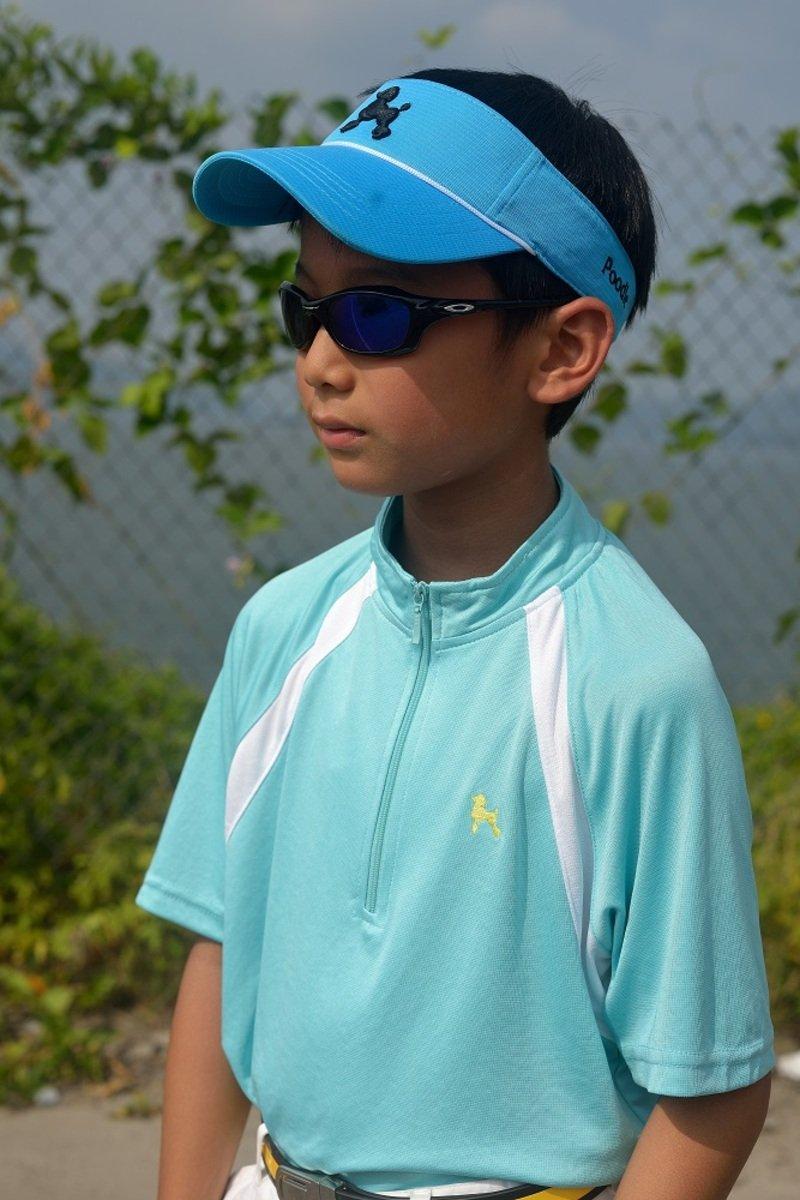 運動衫(拉鏈) - 湖水藍色