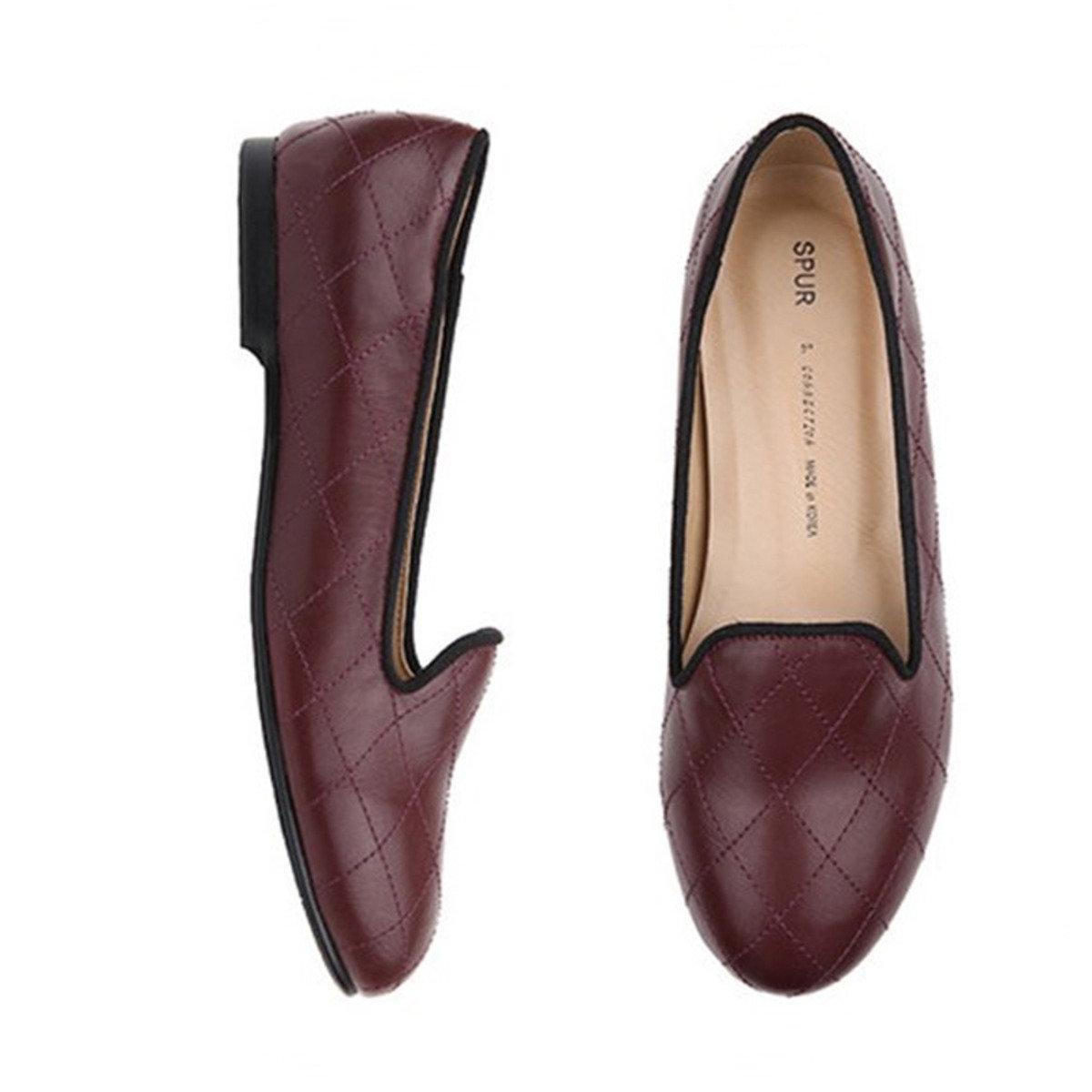 菱形絎縫平底鞋