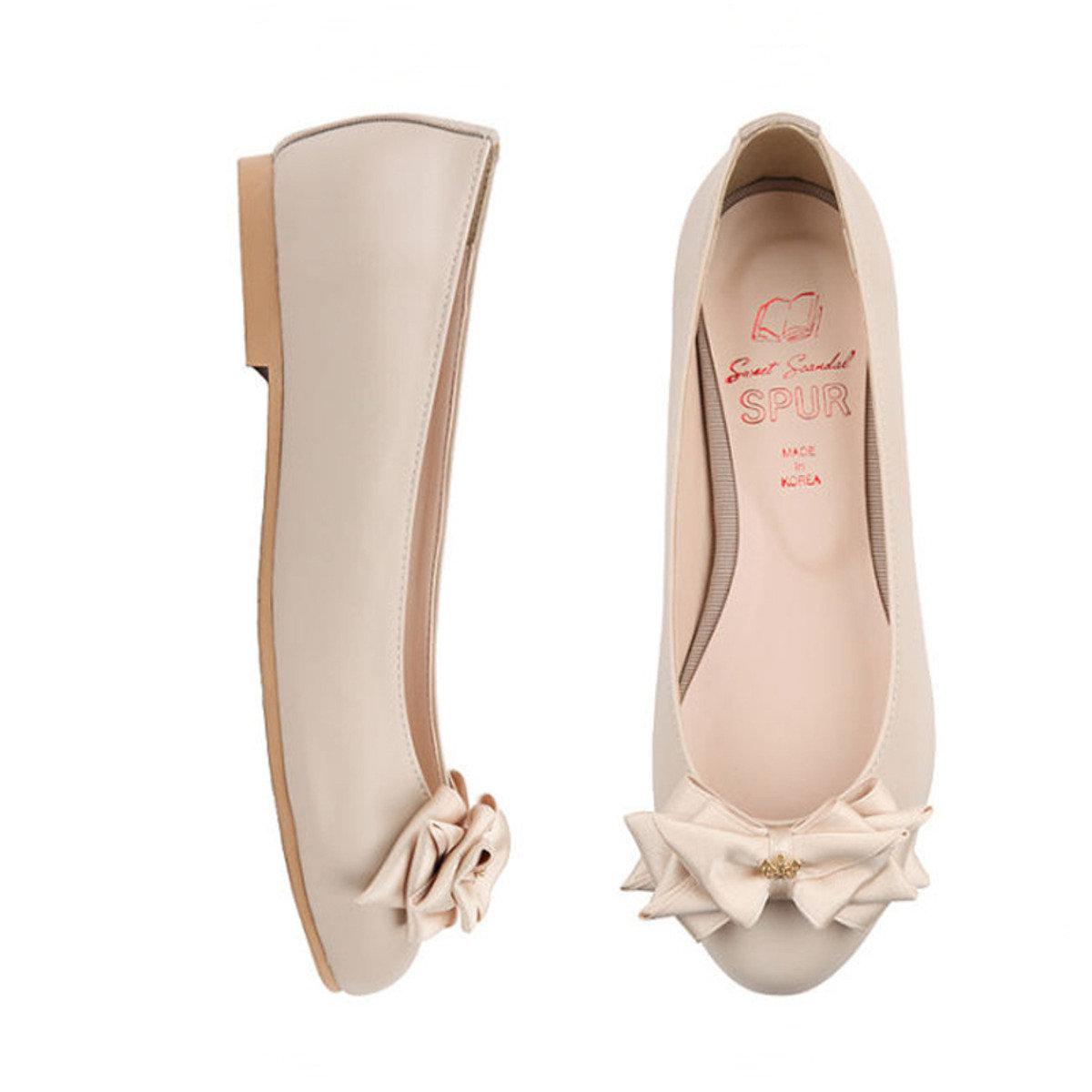 優美蝴蝶結平底鞋