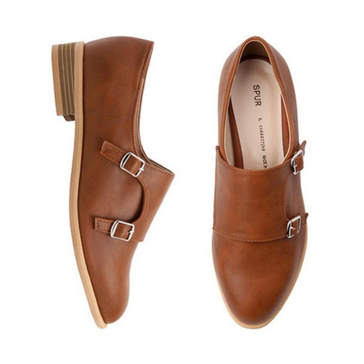 雙帶扣平底鞋