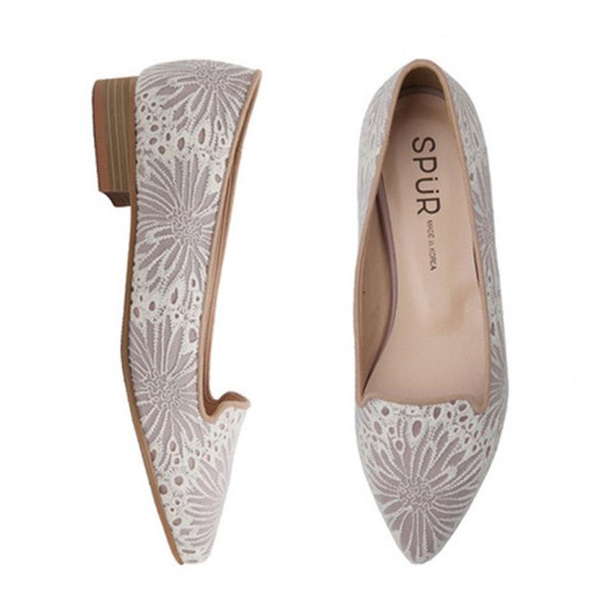 高雅蕾絲平底鞋