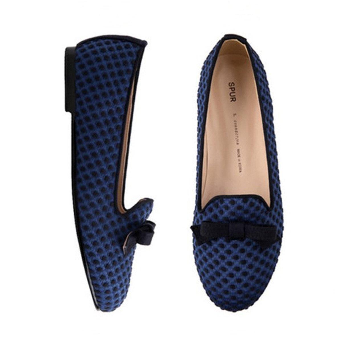 蝴蝶結波點平底鞋
