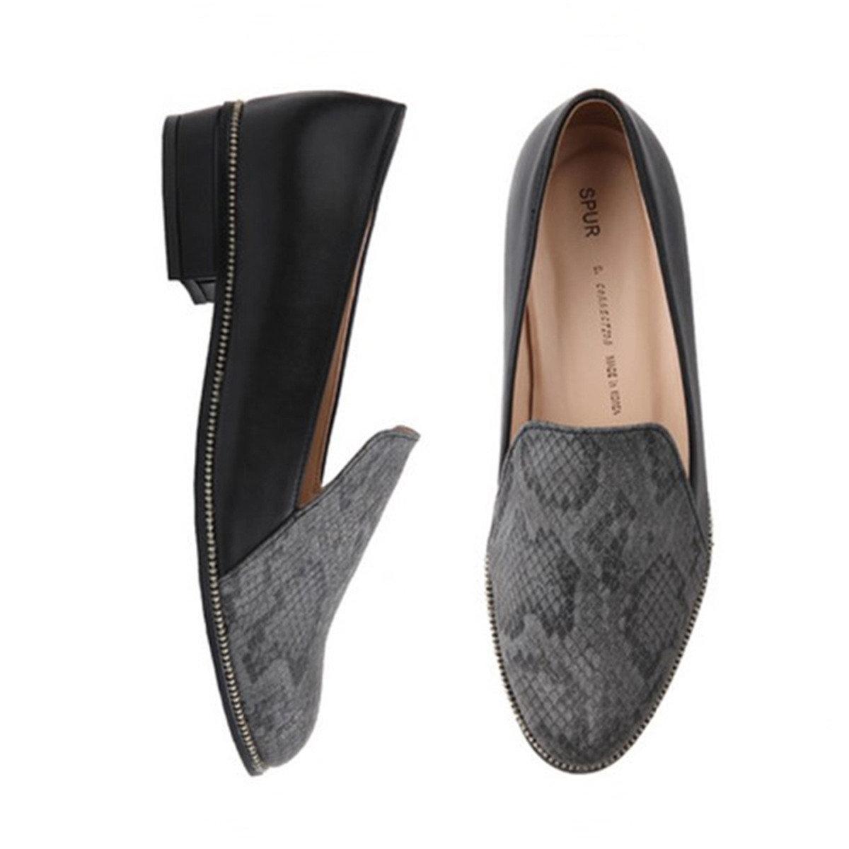 蛇紋平底鞋