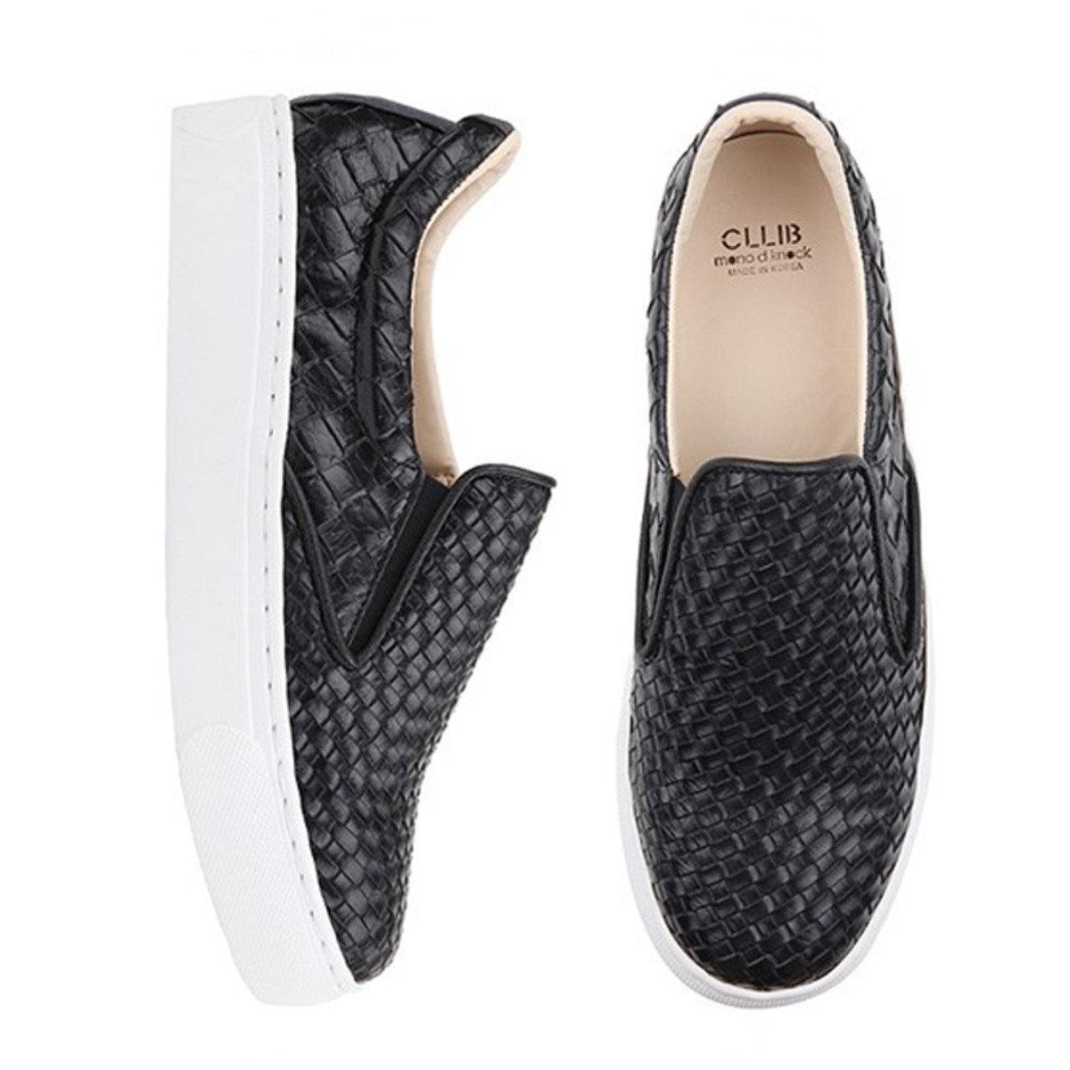 黑色編織輕便鞋