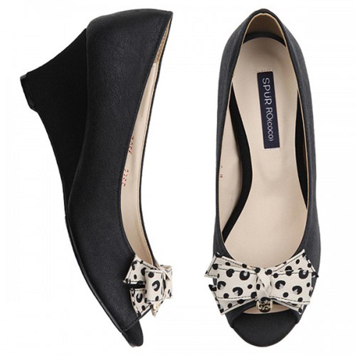 豹紋露趾高跟鞋
