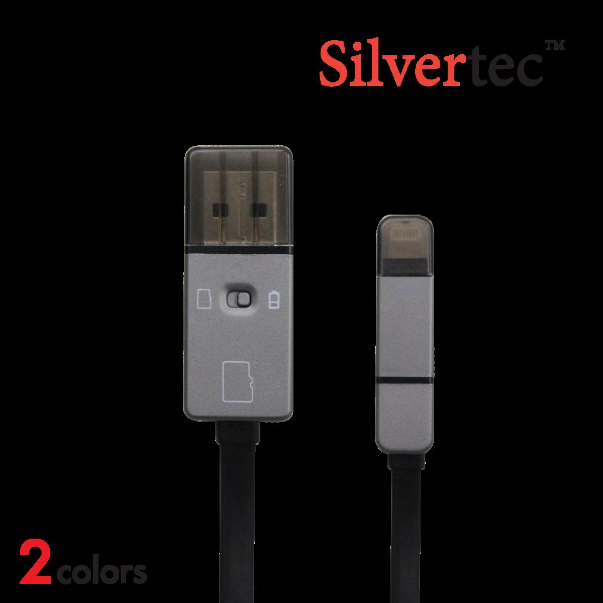 Silvertec L04 8cm OTG 三合一快速充電數據線連讀卡器 (灰/銀)