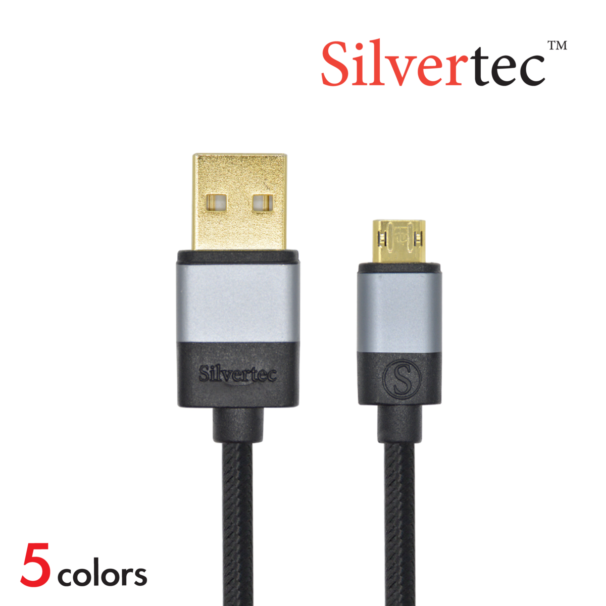 Micro USB 0.5m Cable充電線 (5色)