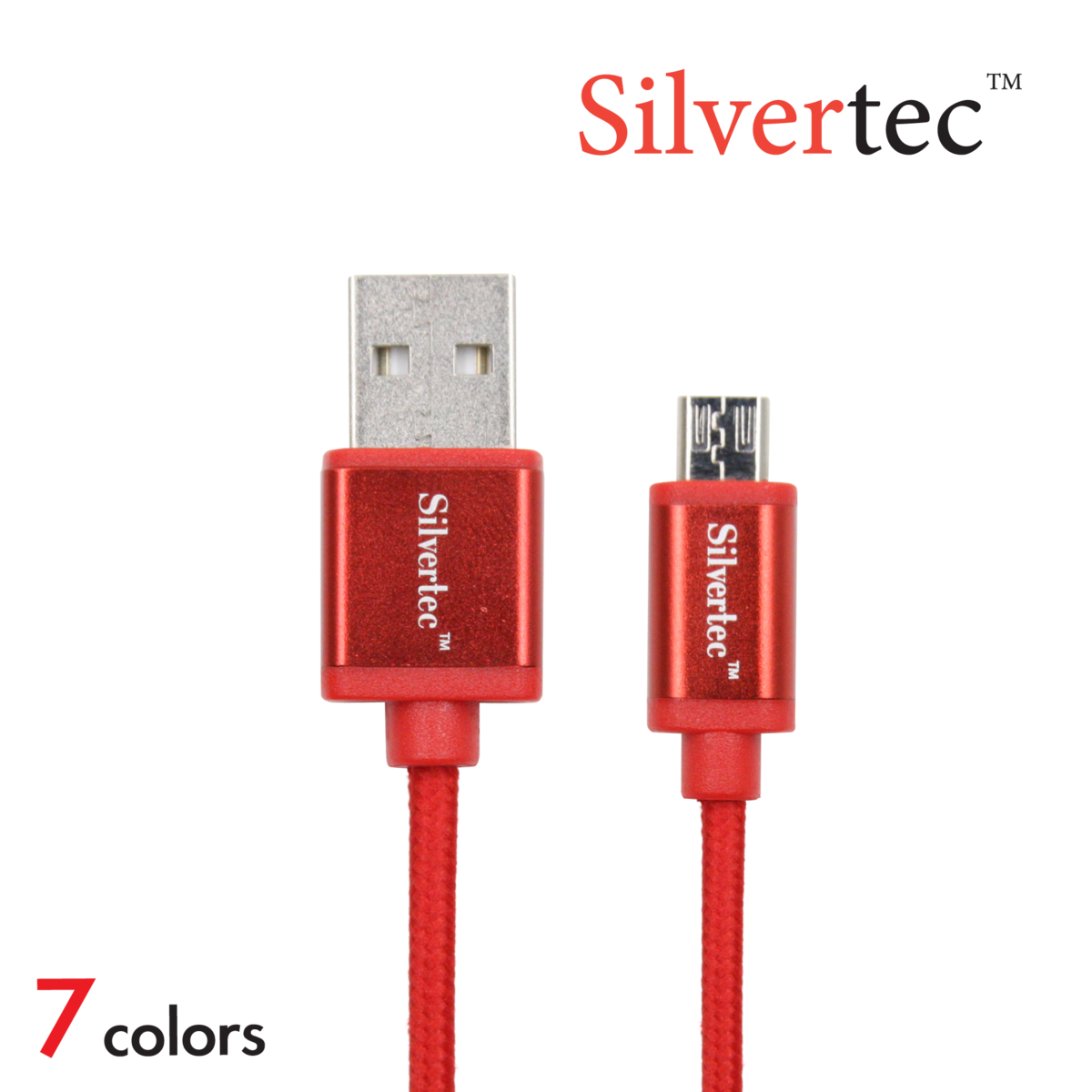 Micro USB Cable 1m Micro充電線 (7色)