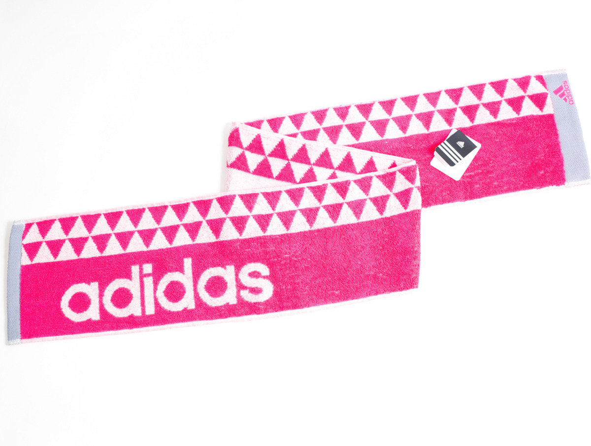 Adidas運動毛巾 110 x 15cm - 粉紅色(1014P)