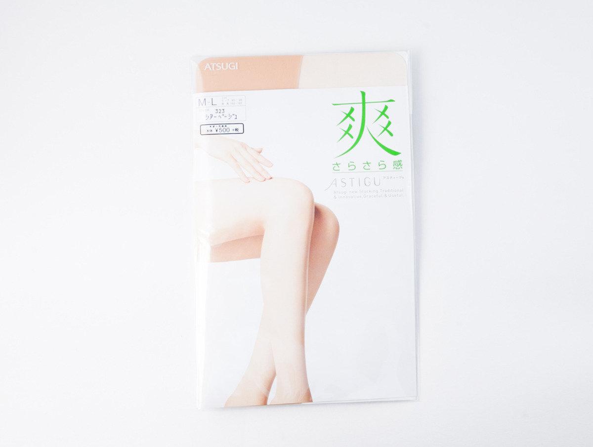 ASTIGU 絲襪系列 - 清爽透氣 米色M-L