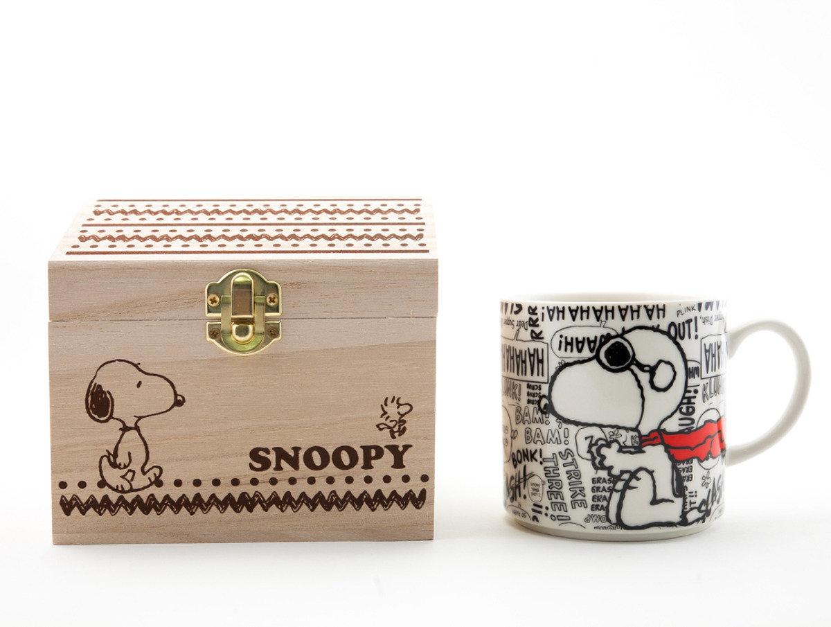 Snoopy 陶瓷杯木箱入(C305)