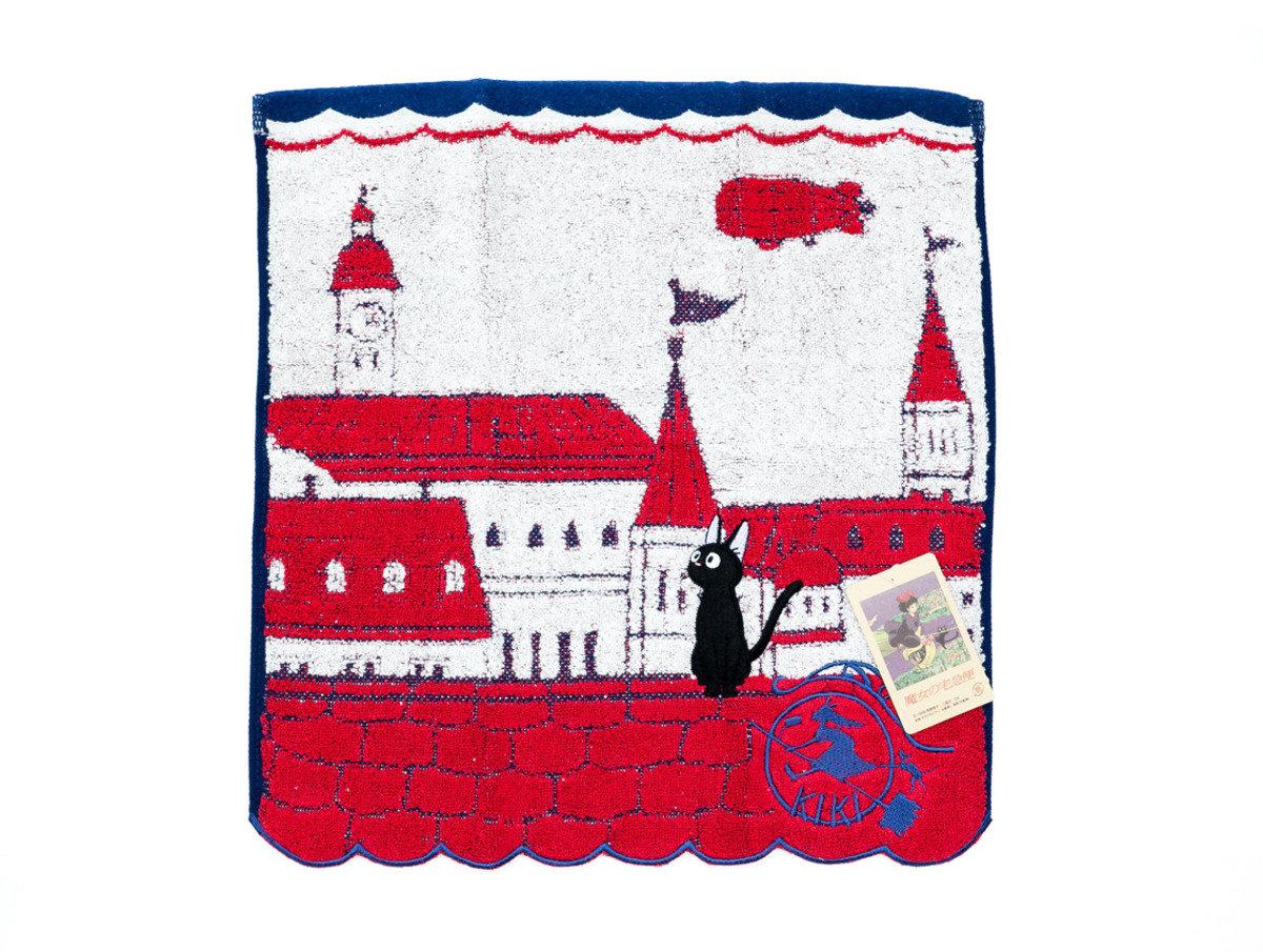 魔女の宅急便 洗面巾34 x 36cm - ジジコリコの街(T675)