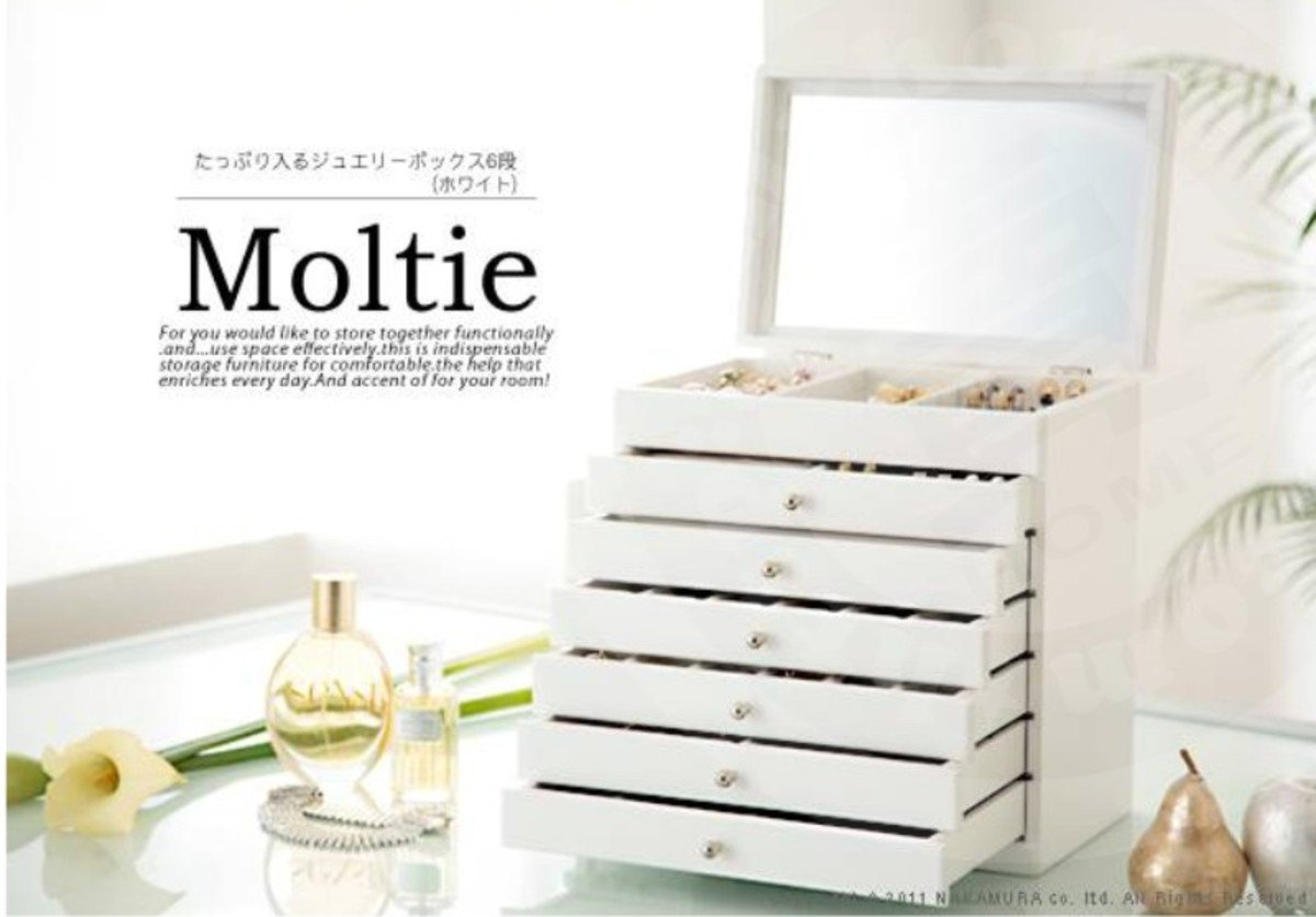 日本Moltie 6段首飾箱(白色)